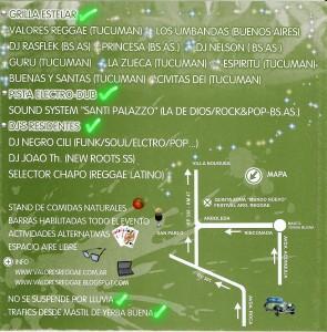 Festival Argentino de Reggae - Buenas Vibraciones 3 - Tucumán - Plano y Grilla